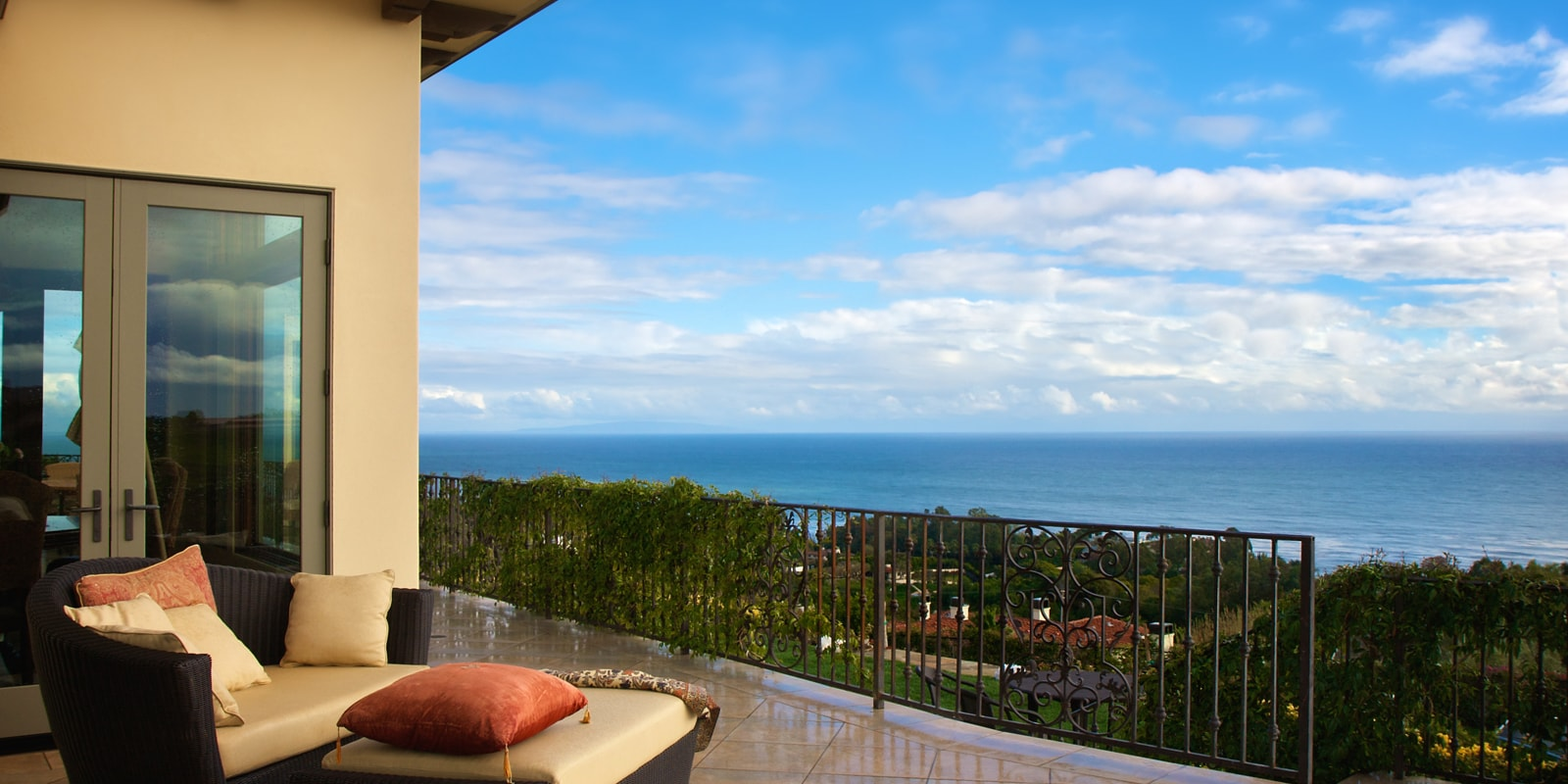 Pacific Palisades view in California
